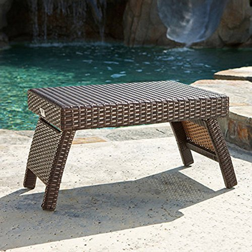 An Outdoor Patio Table Will Be the Perfect Addition to Your Poolside Chaise Lounger, Use As an End Table on Your Deck or Porch to Enhance Your Backyard Seating Area (Seating Backyard Area)