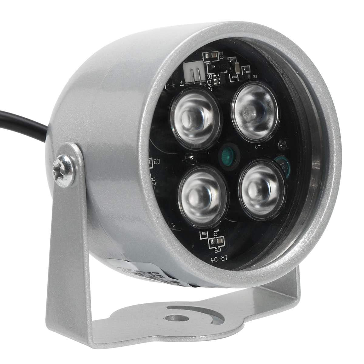 SMALL-CHIPINC - 850nm 3W Wide Angle 4 LED light Illuminator For Security CCTV Camera Adjustable IP66 Waterproof CCTV Fill Light Accessories by SMALL-CHIPINC