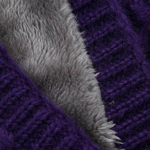 Écharpe Femme Plein Tricoté Tube Chaude Violet Homme Ronde hiver Tricot Collier Foulard En Épaisseur Chaud Bringbring pddtAxTwq