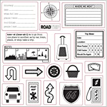 Fiskars 8-Inch By 8-Inch Stamp Lil Davis - Away We Go Road Trip
