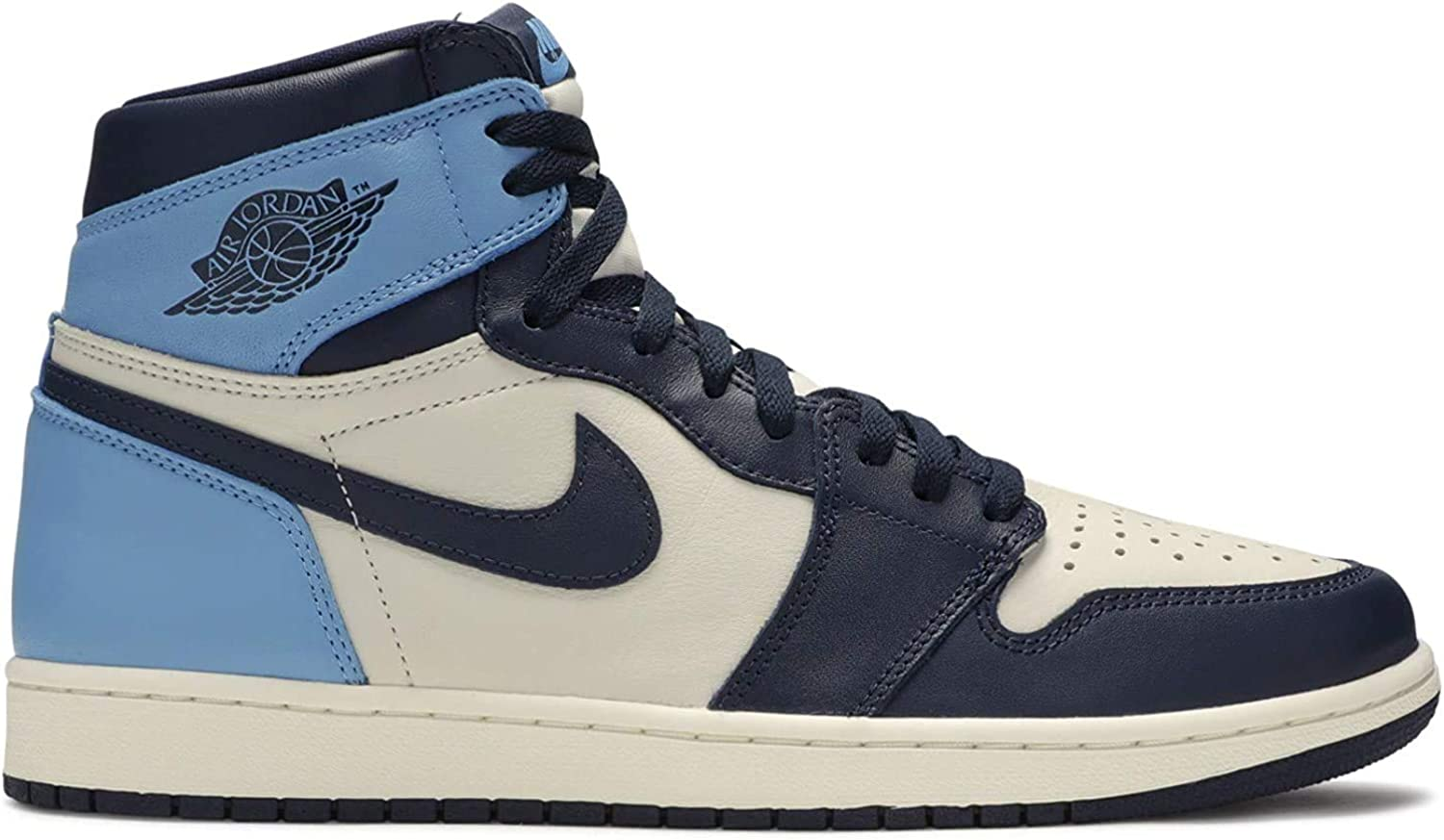 Amazon.com | Jordan Air 1 Retro High Og (Sail/Obsidian-University