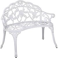 Outdoor Garden Bench Chair Seat Metal Terrace (D)