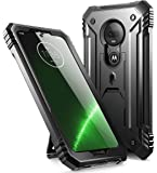 Poetic Moto G7 Rugged Case with Kickstand, Full-Body Dual-Layer Shockproof Protective Cover, Built-in-Screen Protector…