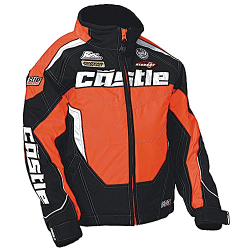 Castle X Jacket - Youth Bolt Fluo Orange Small