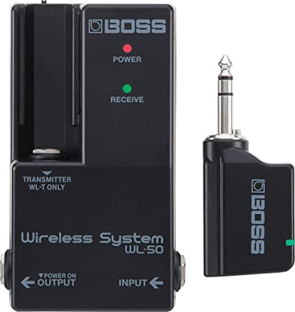 WL-20L BOSS WL-20L Wireless Guitar System Transmitter and Receiver for Acoustic or Electric Guitar and Electronic Instruments