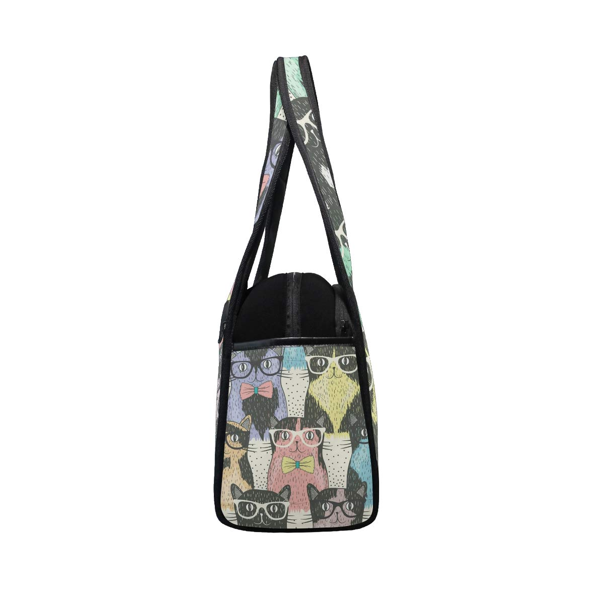 Art Cartoon Cool Cats Women Sports Gym Totes Bag Multi-Function Nylon Travel Shoulder Bag
