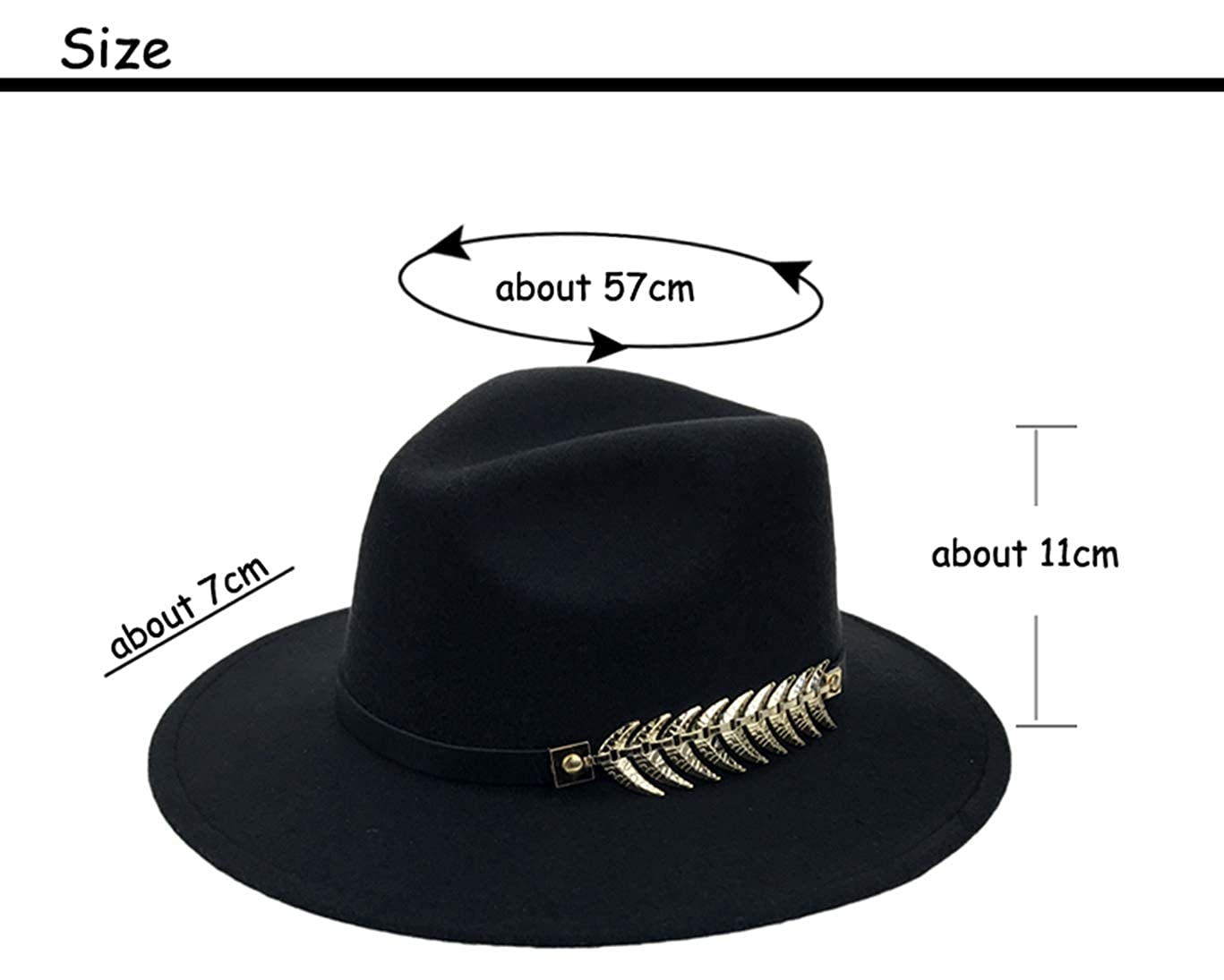 Wool Felt Fedora Hats for Men Women Unisex Classic Vintage Wide Brim Trilby Panama Jazz Hat with Band