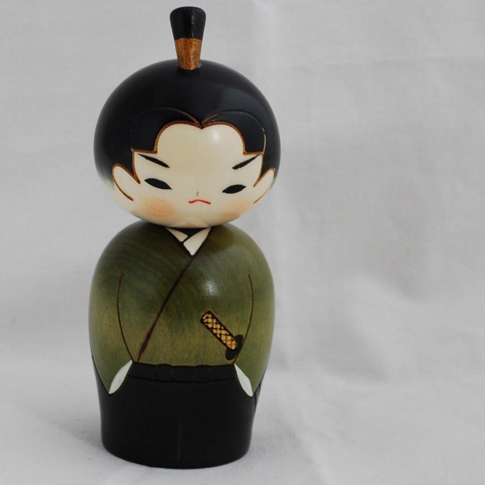 /Fait /à la main au Japon/ Kokeshi Poup/ée Japonaise/ /Samurai//Warrior