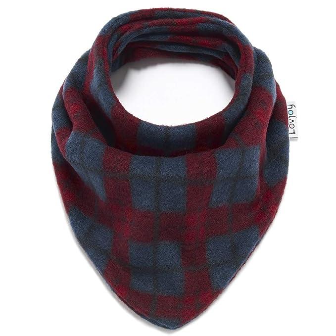 Lovjoy Neonato Bambino sciarpa di lana invernale (Assegni rossi blu ... 7ba7a5138e60