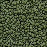 Miyuki Delica Seed Beads 11/0 - Matte Opaque Olive DB391 7.2 Grams