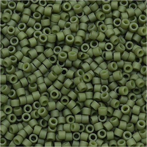 Matte Opaque Olive (Db391) Delica Myiuki 11/0 Seed Bead 7.2 Gram Tube Approx 1400 Beads (Olive Opaque Matte)