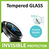 Samsung Galaxy Gear S2, Gear S2 Classic Tempered Glass INVISIBLE Screen Protector FRONT Shield Scratch Proof Protection Exclusive to ACE CASE