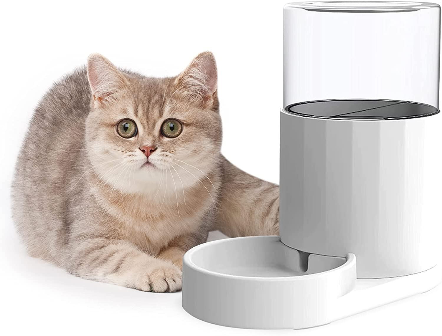 RIZZARI Automatic Pet Waterer and Feeder Cat Waterer 2.5L with Filter for Cats and Small Medium-Sized Dogs Large Capacity Food Bowl (Waterer)