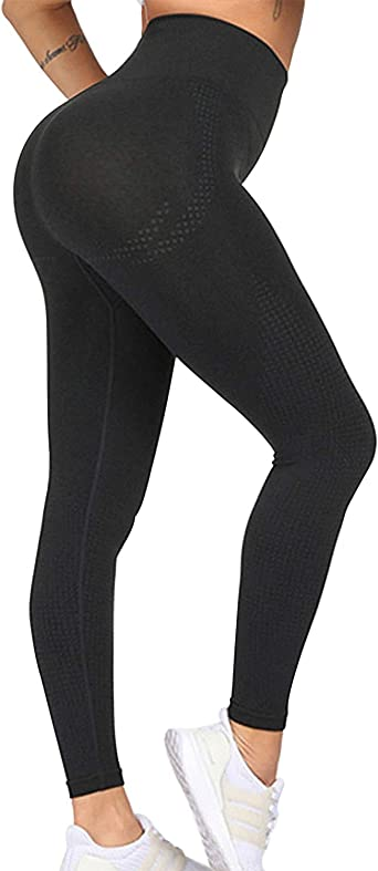 Jenbou Seamless Leggings For Women Workout Yoga Pants Butt Lifting High Waisted Tummy Control Compression Tights At Amazon Women S Clothing Store
