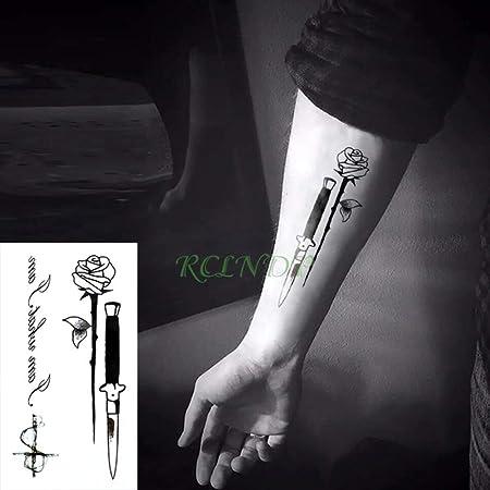 adgkitb 4 Piezas Impermeable Tatuaje Temporal Pegatina Pistola ...