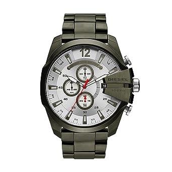 c893e6b08 Diesel Men's Mega Chief Quartz Stainless Steel Chronograph Watch, Color:  Green (Model: