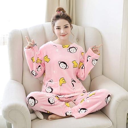 JYLW Pijamas Invierno Mujer Invierno Mujer Pijamas Chica Ropa ...