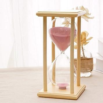 Compra KKwell 60 minutos Arena rosada Marco de madera clásico Reloj de arena, aprendizaje y tiempo de juego Reloj de arena en Amazon.es