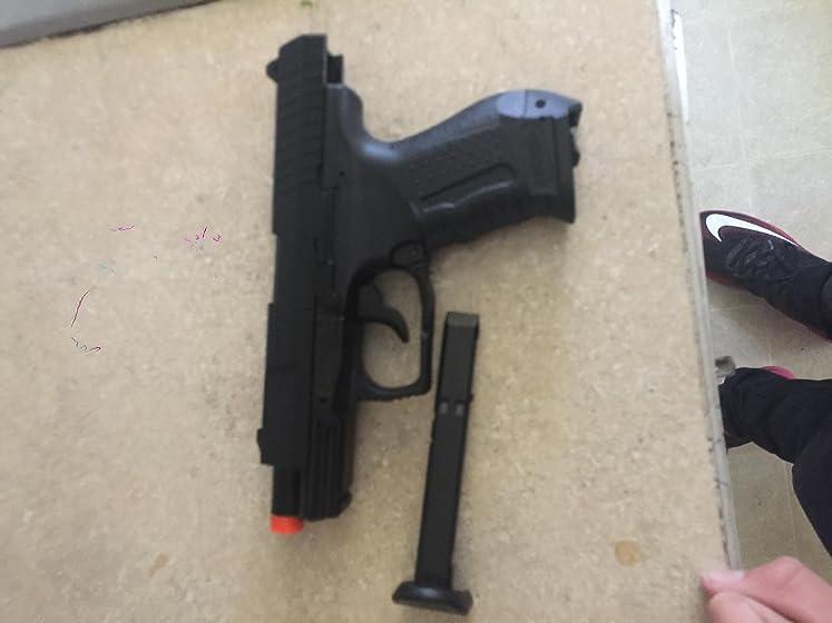 Umarex Walther 2262020 15 Rounds P99 Blowback Air Soft Pistol, 6mm, Black Five Stars