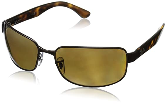 ba4325f582 Amazon.com  Ray-Ban Men s Steel Man Sunglass Polarized Iridium ...