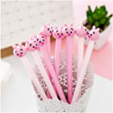 GOOTRADES 8 Pack Cute Pig Writing Gel Ink Pen for Office School Student,0.38 mm Tip