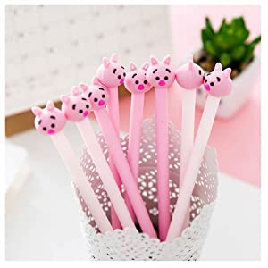 GOOTRADES 8 Pack Cute Pig Writing Gel Ink Pen for Office School Student ,0.38 mm Tip