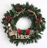 Jim Shore Believe/Santa wreath b1039