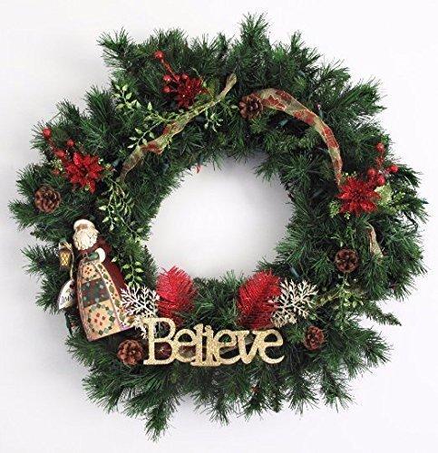 Jim Shore Believe/Santa wreath b1039 by North Pole Extension