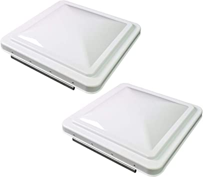 """2 Pack 14/""""x 14/"""" RV Roof Vent Cover Motorhome Camper Trailer Ventilation White US"""