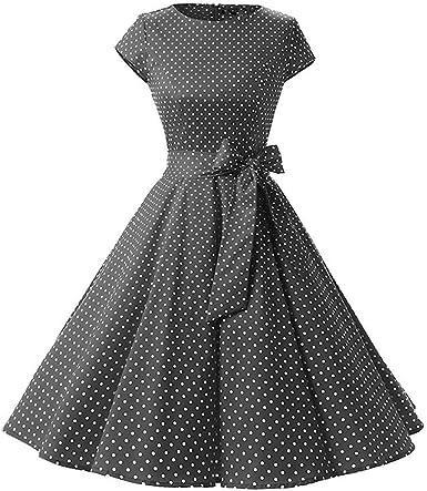Robe Vintage Femme Point De Vague Annee 50 Grande Taille Imprime De Fleurs Amazon Fr Vetements Et Accessoires