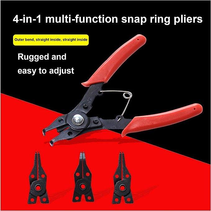 4 en 1 multifonctionnel multi outil pince /à /épiler 10-15 mm avec quatre unit/és pinces outils carte costume sauvage anneau circlip pinces ensemble