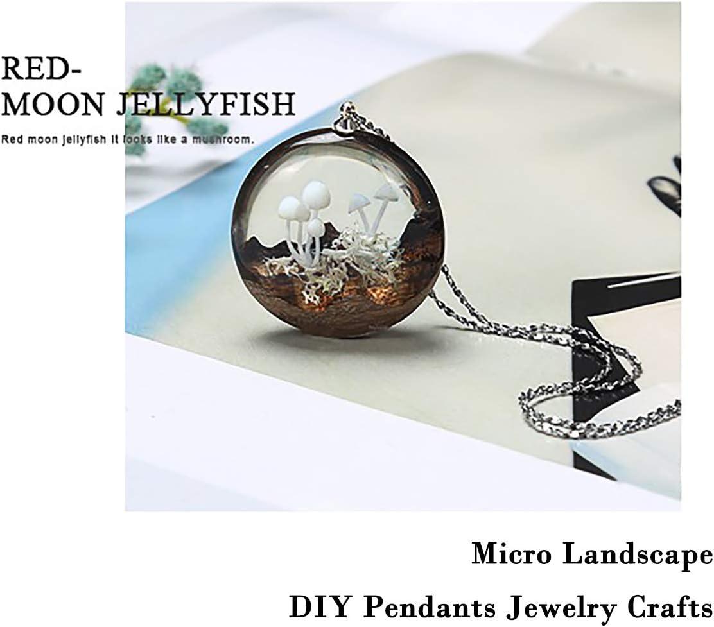 iSuperb 9 pcs 3D Mini Mushroom Resin Filling Handmade DIY Crystal Epoxy Resin Filler Stereo Vivid Mushroom Mold Micro Landscape Shaping Materials for Jewelry Making Crafts