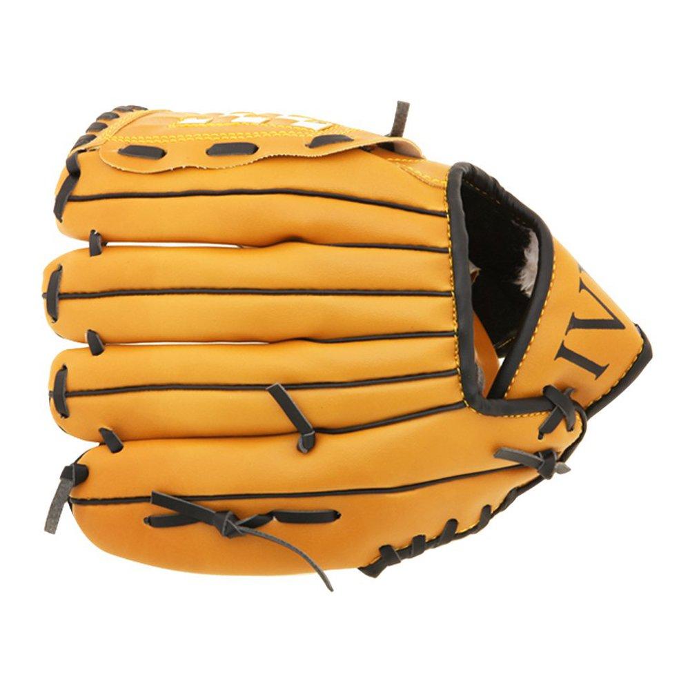 野球グローブ – TOOGOO ( R )野球グローブピッチャー用ソフトタイプブラウン右投げ用( 10.5インチ) B01HPVB1ZO