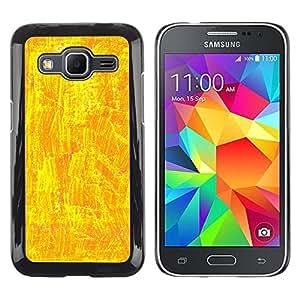MOBMART Carcasa Funda Case Cover Armor Shell PARA Samsung Galaxy Core Prime - Shiny Yellow Design