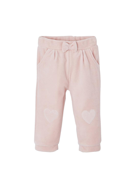 Vertbaudet Pantalon de Sport bébé Fille en Velours Lisse