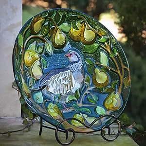 Evergreen empresas 2GB178pera y Partridge vidrio bebedero para pájaros
