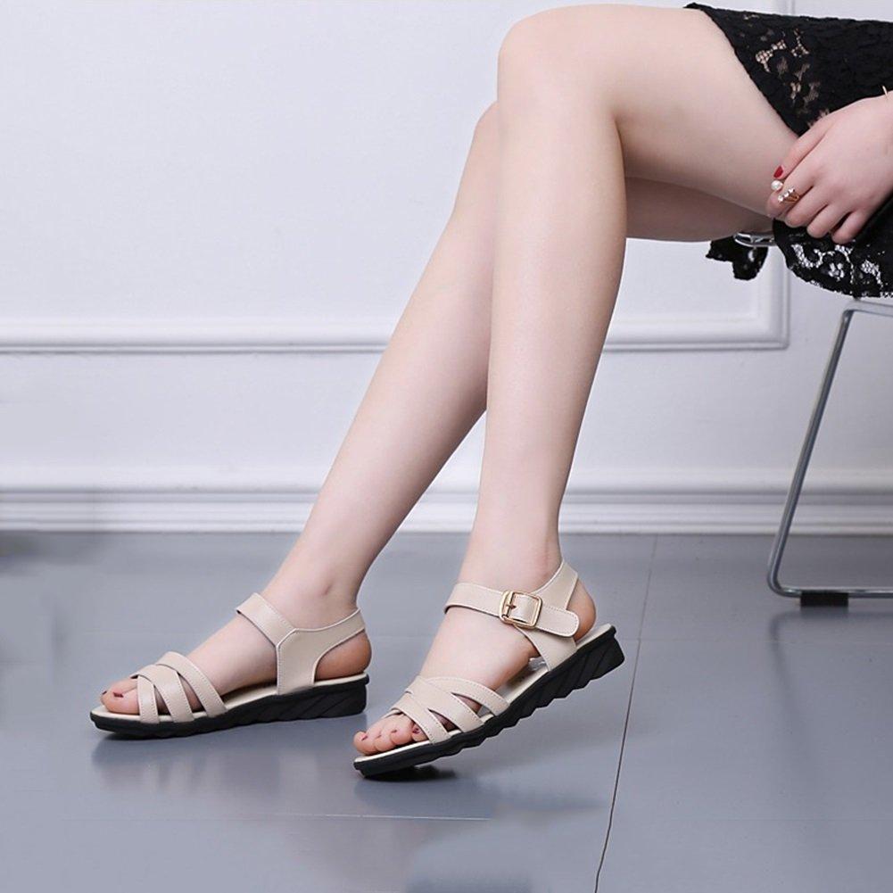 DALL Flache Pumps Ly-769 Einfach Und Modisch Damenschuhe Freiliegende Zehe Flache DALL Sandalen High Heels Frühling Und Sommer 3 Cm Hoch (Farbe : Beige, größe : EU 35/UK 3.5/CN 35) Beige 75c9a5