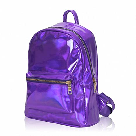 Amazon.com | NEW Summer Silver Hologram Laser Backpack Girl School Shoulder Bags For Teenage Girls Mochilas Feminina Gifts Purple | Kids Backpacks