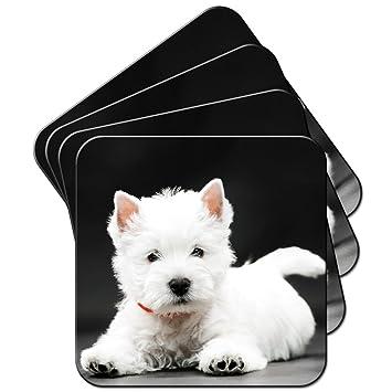 Marineblau Wei/ß Westie Hund Damen Sarong // Schal // Wickeltuch mit Motiv: West Highland Terrier