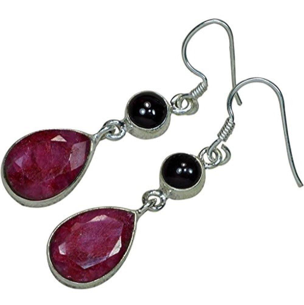 Garnet Earrings Nature Cherry Ruby