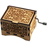"""Personalizable Music Box, """"You Are My Sunshine"""", Laser Engraved Birch Wood (Standard)"""