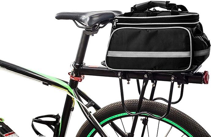 FLYDEER Alforjas para bicicleta, impermeables al aire libre, bolsa de transporte para maletero de bicicleta, gran capacidad, funda impermeable y ribete reflectante: Amazon.es: Deportes y aire libre