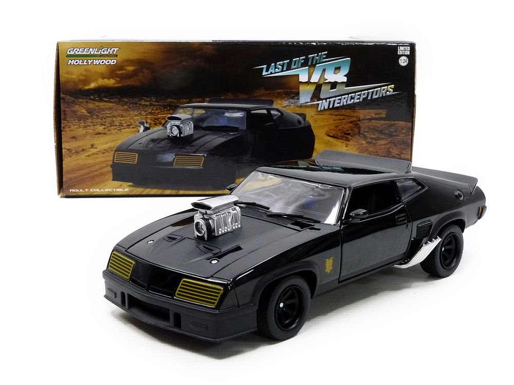 Greenlight 1:24 Last of the V8 Interceptors (1979) -1973 Ford Falcon XB (84051) Die-Cast Vehicle, Black