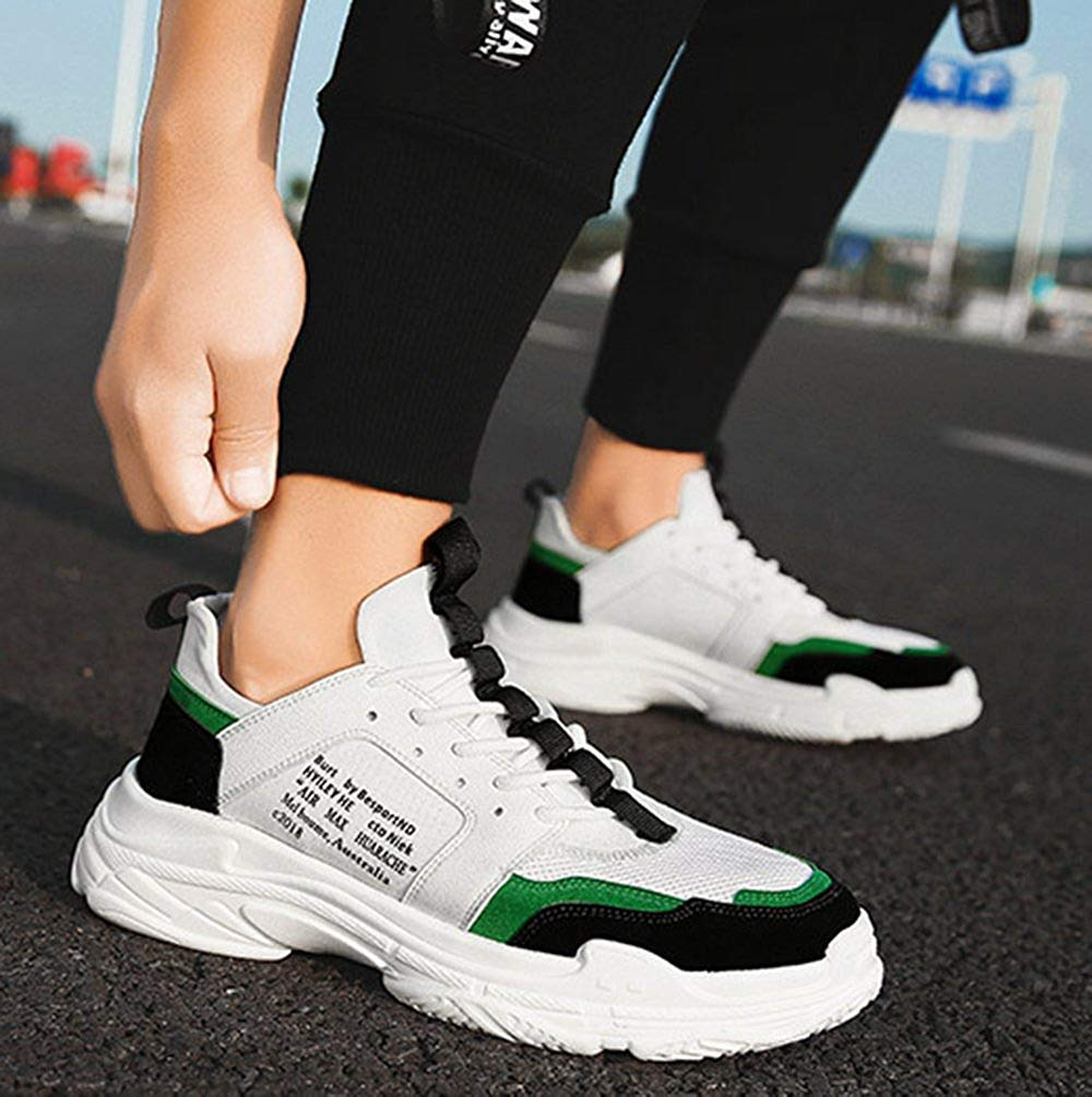 FuweiEncore Herrenmode Sportschuhe Retro-Casual Schuhe Atmungsaktives Mesh (Farbe    (Farbe Grün, Größe   43EU) a0cbbf