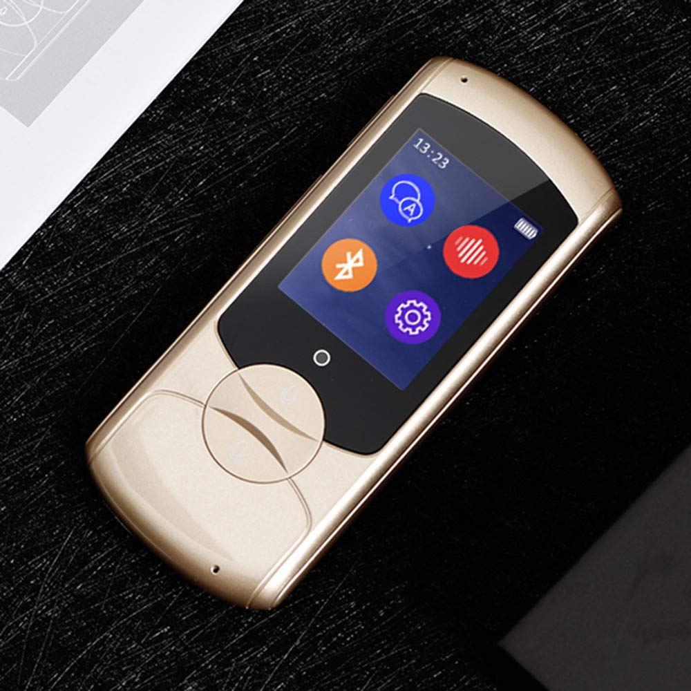 Voice Translator Smart Language Translator Instant Voice Speech BT 41 Languages Device Electronic Pocket Voice Bluetooth or Learning Travel Shopping Business (Gold)