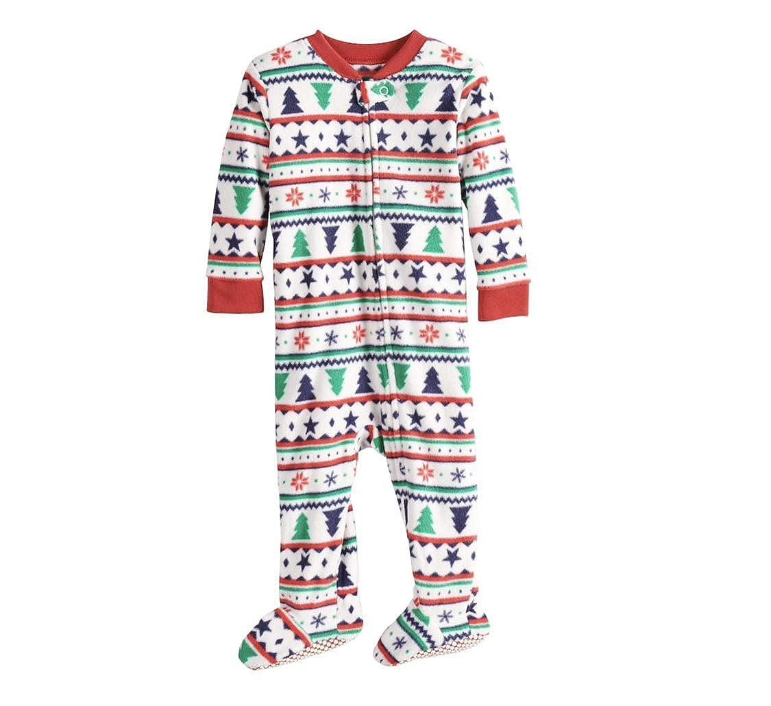 Jammies For Your Families Fairisle Blanket Sleeper Microfleece One-Piece Pajamas