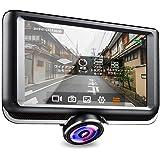360度ドライブレコーダー 水平360°超広視野角 動体感知機能 駐車監視 重力センスし 事故のビデオを 自動にロックする ライブ4画面プレビュー