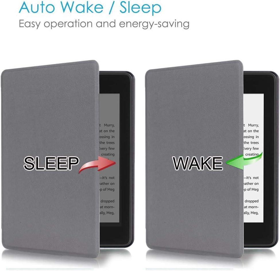 Compatible con  Kindle Paperwhite 2018 Negro con funci/ón autom/ática de suspensi/ón y Despertador AKNICI Funda para Kindle Paperwhite de Piel sint/ética 10/ª generaci/ón Ultrafina