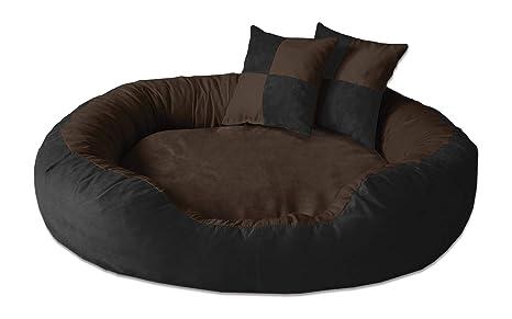 BedDog PRINS Negro/Marron XL Aprox. 95x80cm colchón para Perro, 12 Colores,