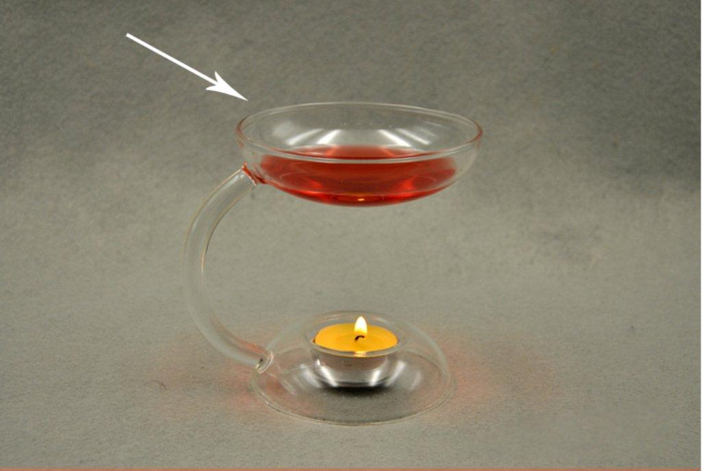 Sharplace Chandelier de Verre Brûleur à Huile Aromatique Bougeoir Transparent Décor Maison Bureau Café Hôtel